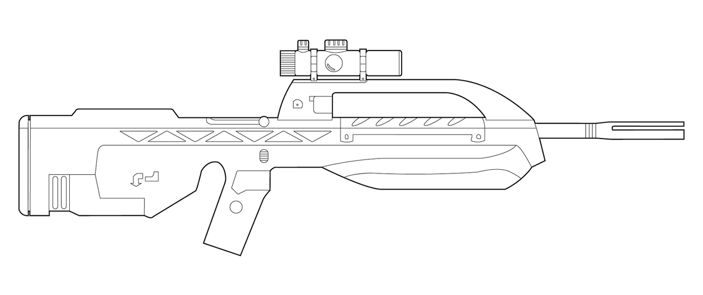 halo br55 battle rifle lineart by masterchieffox on deviantart