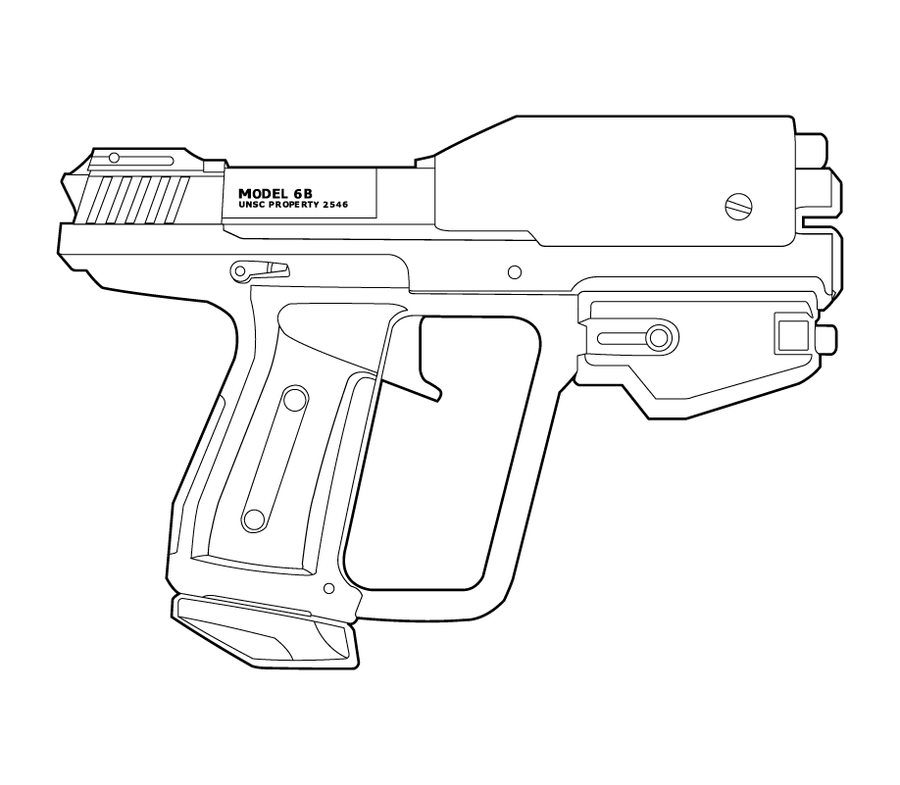One Line Art Gun : Halo m g b type lineart by masterchieffox on deviantart