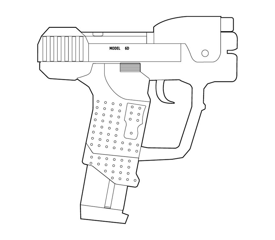 Halo M6D Lineart by MasterChiefFox