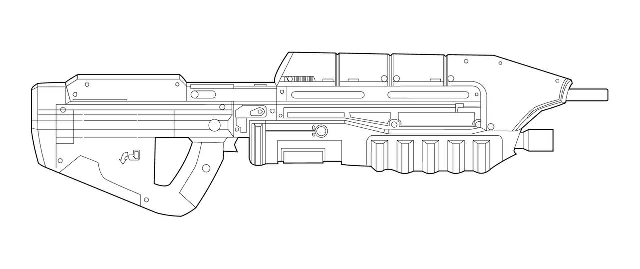Halo Ma5c Lineart By Masterchieffox On Deviantart