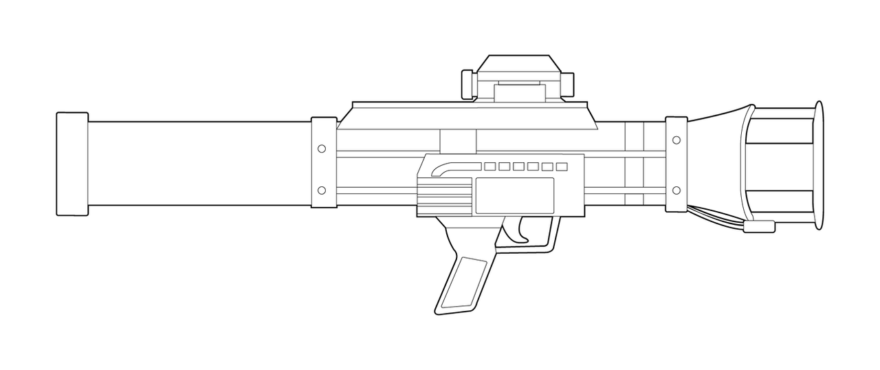 Half-Life ATGM-4000 Lineart by MasterChiefFox