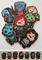 Mass Effect Pixel Biscuits by BeanieBat