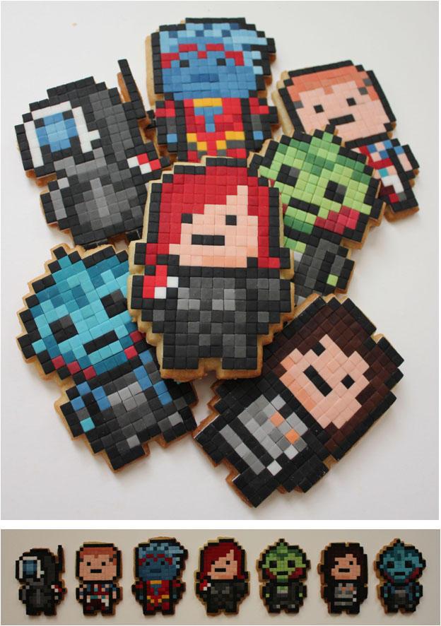 Mass Effect Pixel Biscuits