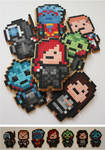 Mass Effect Pixel Biscuits