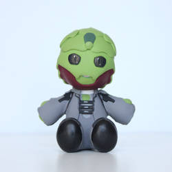 Mass Effect Thane Plushie Sculpture by BeanieBat