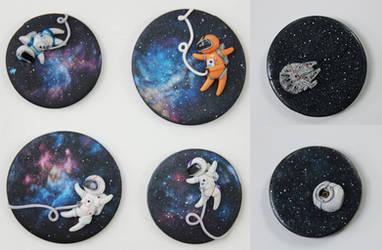 Galaxy Magnets by BeanieBat