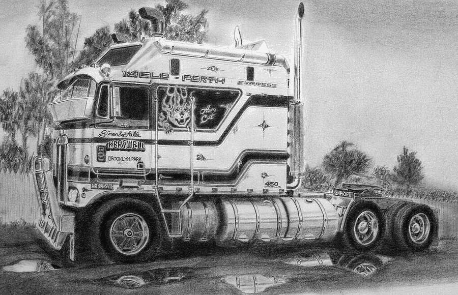 Related Keywords Amp Suggestions For Kenworth Truck Drawings