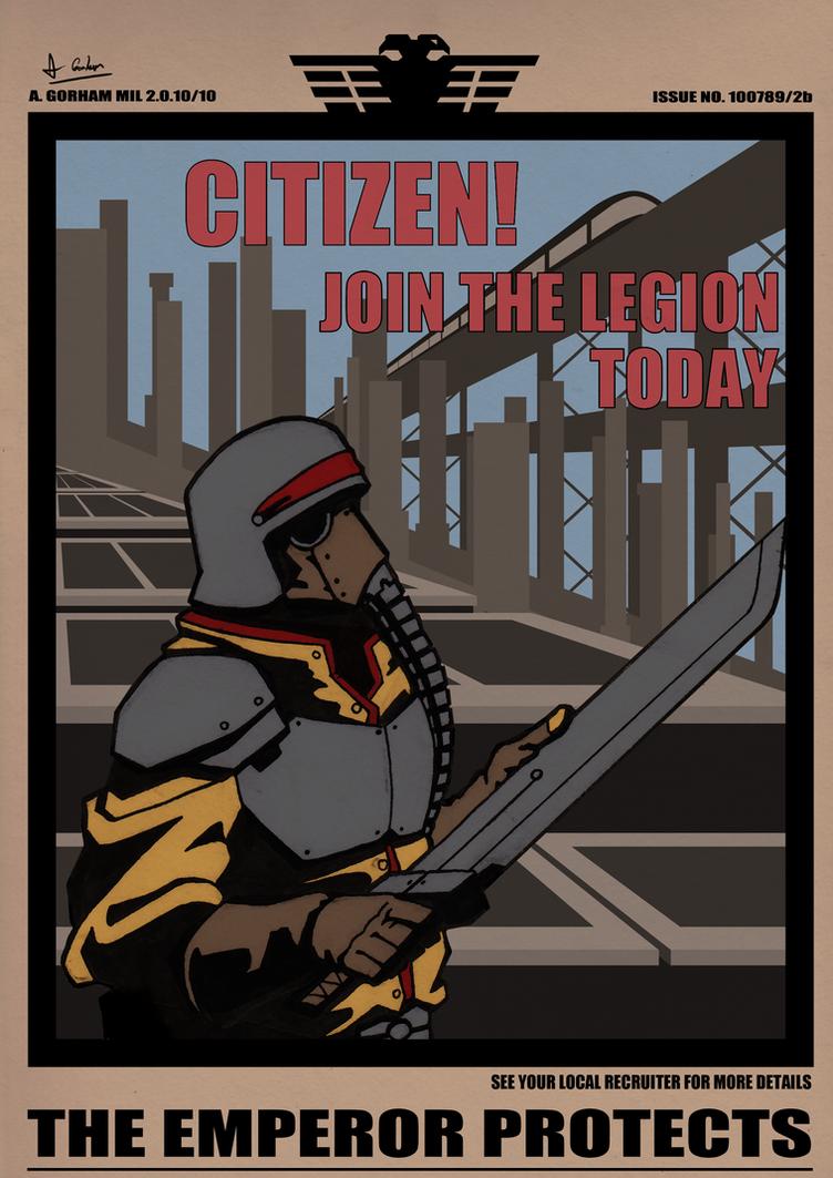 Steel Legion Recruitment by Greenstuff-Alex
