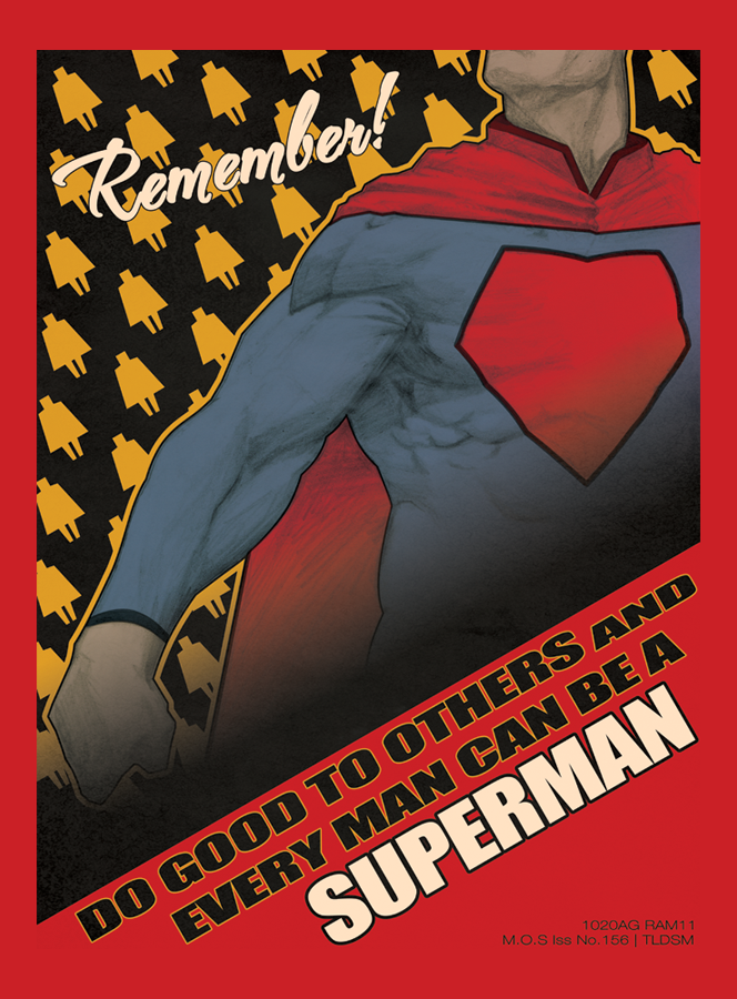 Superman Poster by Greenstuff-Alex