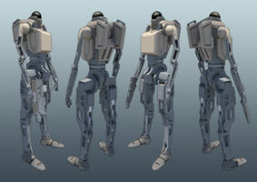 Bipedal Unmanned Ground System by Greenstuff-Alex