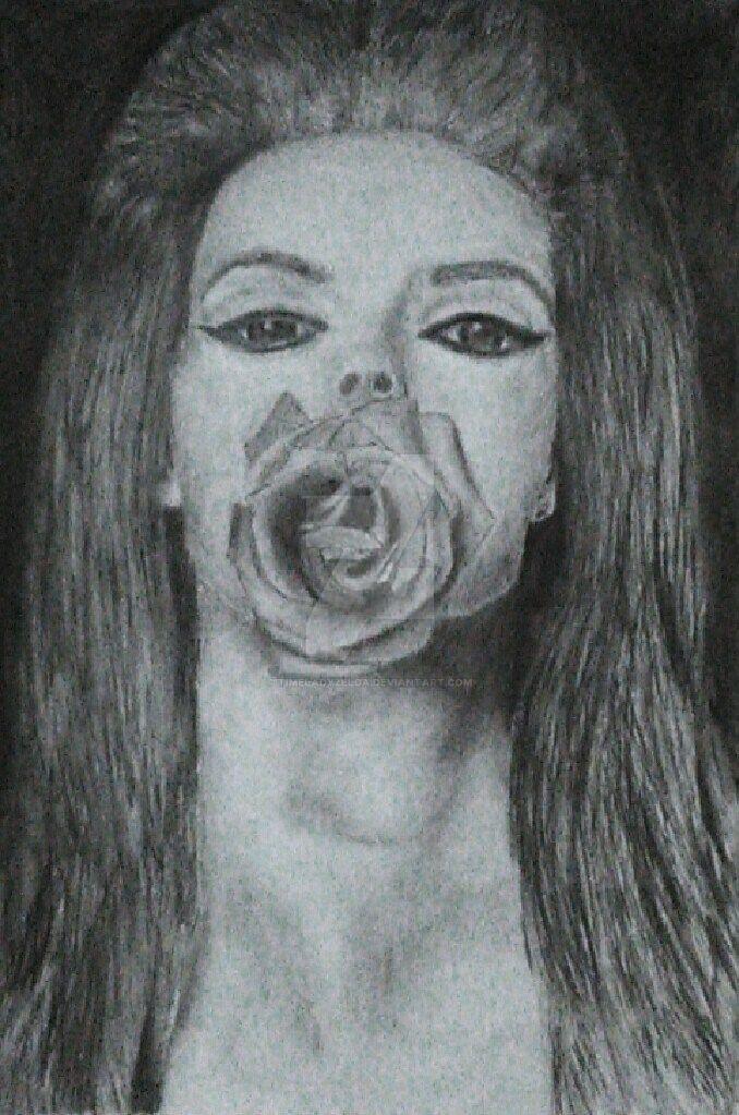 Lana Del Rey - charcoal by TimeladyZelda