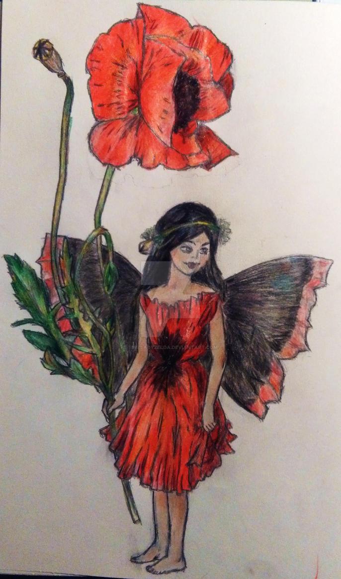 Poppy Fairy - Cicely Mary Barker by TimeladyZelda