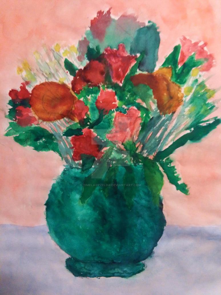 Flowers - watercolor by TimeladyZelda