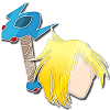 Slayers Gourry stlish badge by Alien-Snowflake