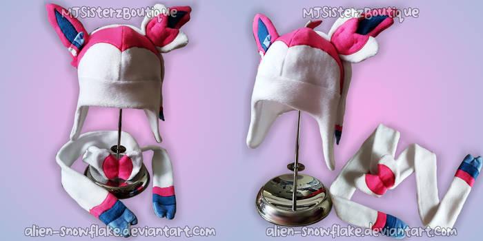 Pokemon Sylveon Fleece Hat Scarf