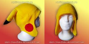 Pokemon Pikachu Fleece Beanie Hat Cosplay V2 by Alien-Snowflake