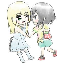 Lillie and Moon Short Drabble-Story