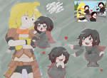 RWBY S1 E2 Yang and Ruby redraw by Alien-Snowflake