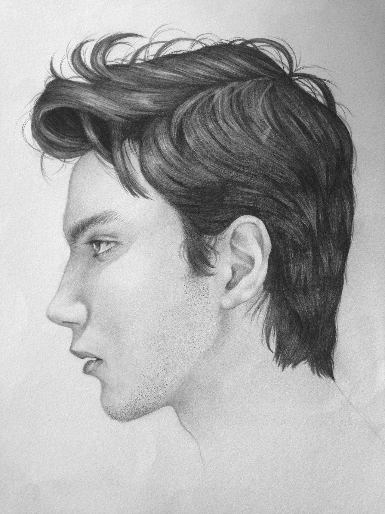 Side Portrait of myself by hamood96 on DeviantArt