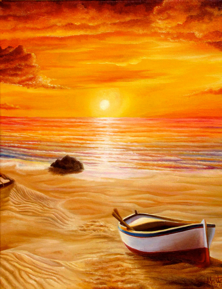 The gallery for --> Easy Beach Sunset Paintings