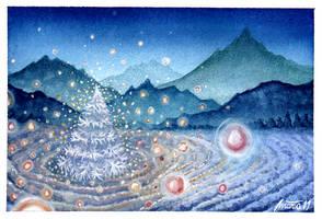 A lonely, magic Christmas tree by martalopezfdez