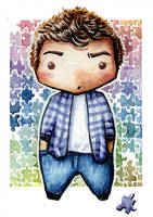 GLEE Finn Hudson chibi by martalopezfdez