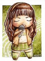 GLEE Rachel Berry chibi by martalopezfdez