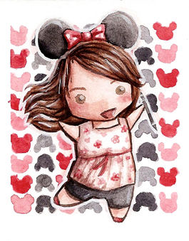 Happy Disney Fan Chibi by martalopezfdez
