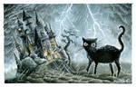 Halloween scary castle by martalopezfdez