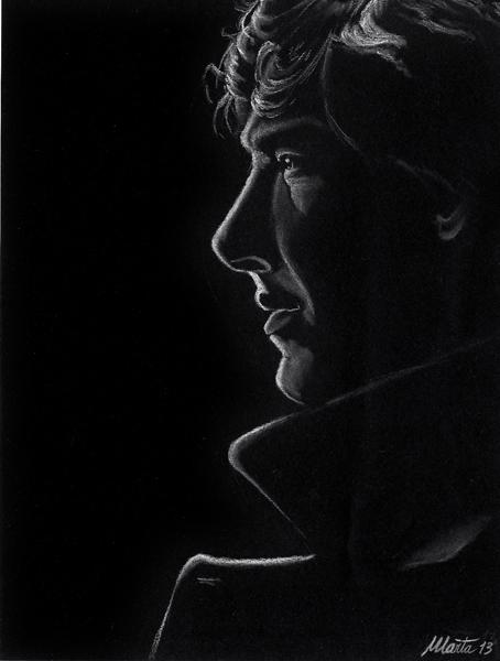 Sherlock on black by martalopezfdez
