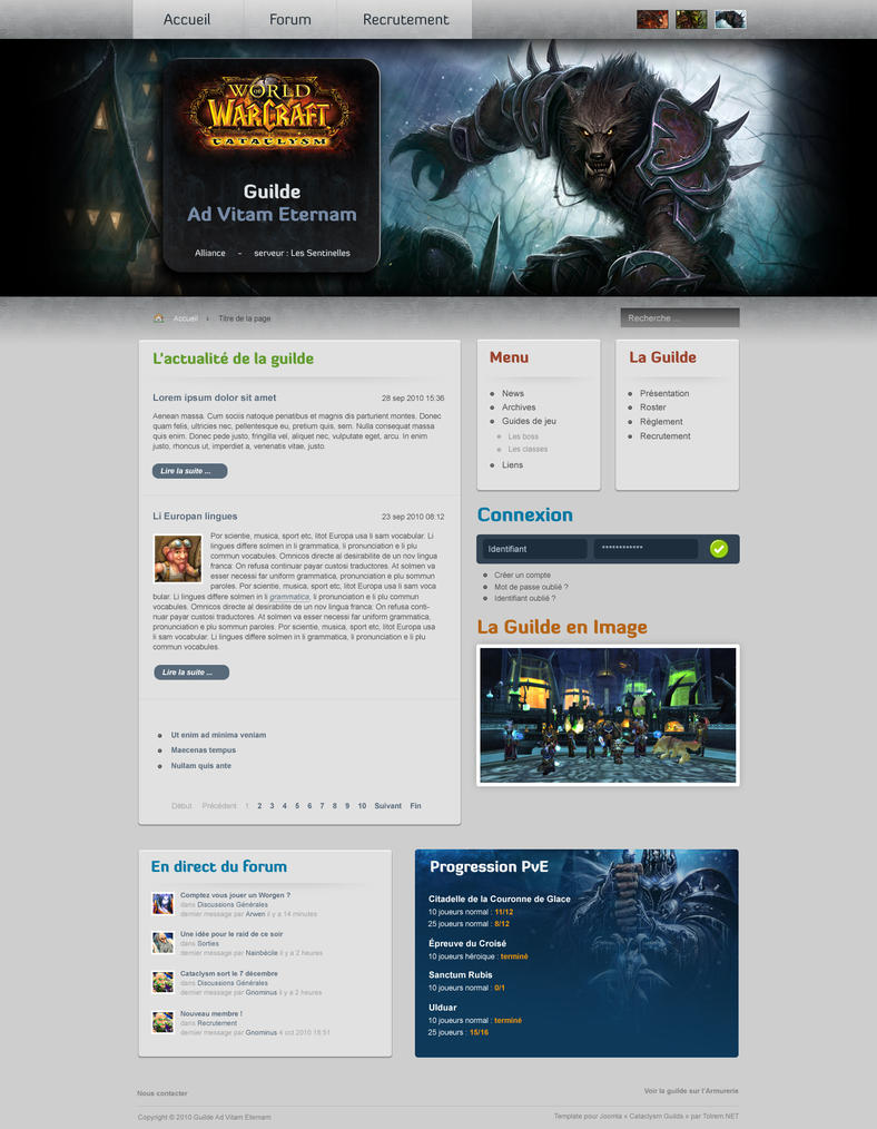 wow cataclysm guilde template by tolremfr on deviantart