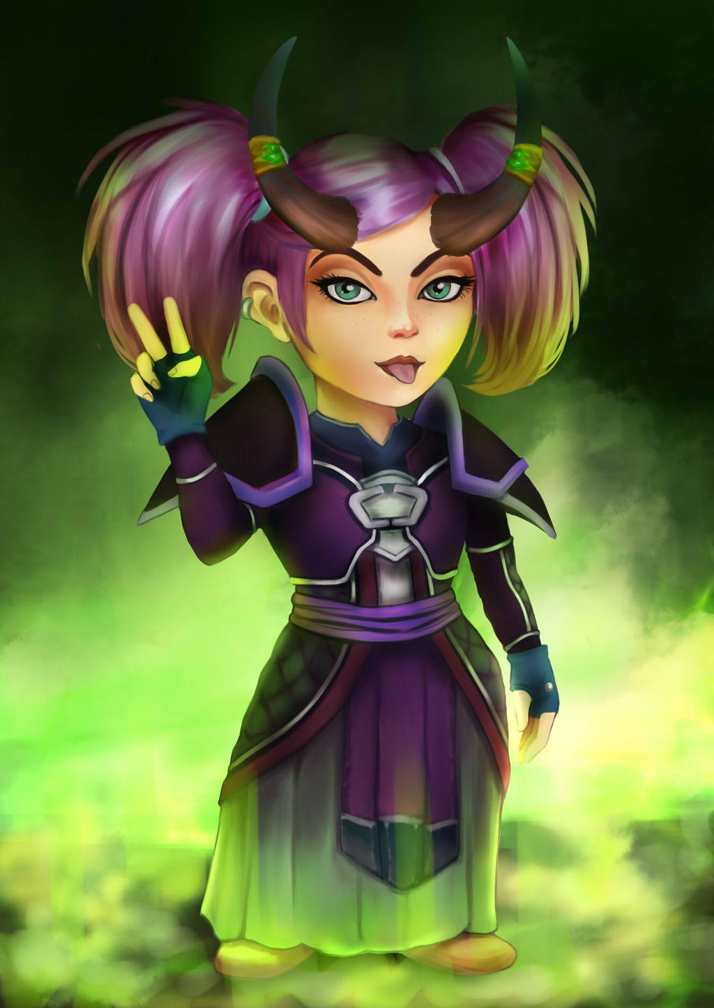 WoW female gnome art xxx image