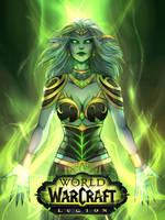 Queen Azshara as Mistress of Legion by ammatice