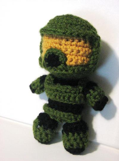 master chief crochet by randomdream