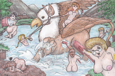 Bathing The Gryphon by Paul-Lucas