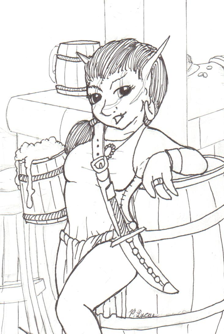 Lady Skaver Inks by Paul-Lucas
