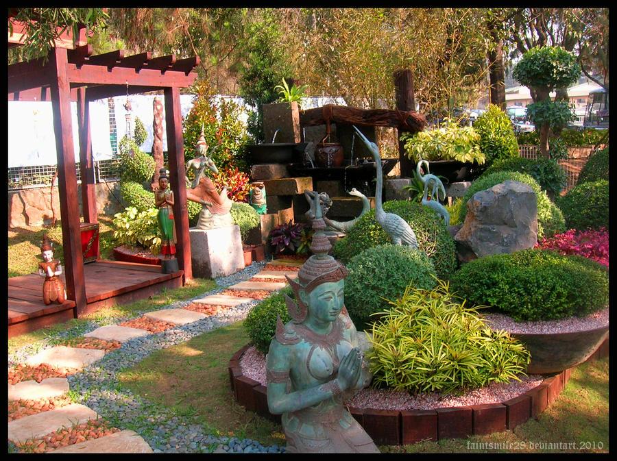 Thai garden by faintsmile28 on deviantart for Garden design ideas thailand