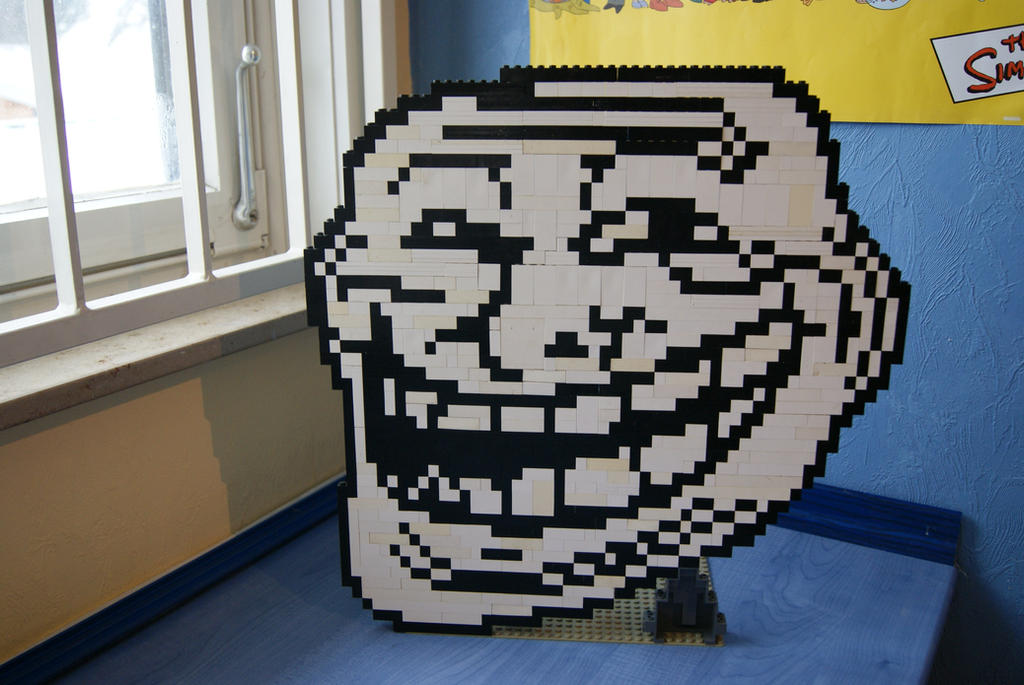 Minecraft Pixel Art Grid Troll Face LEGO Trollface by ProfMadness
