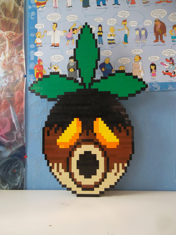 Majoras Mask Moon Giants LEGO Deku mask by Prof...