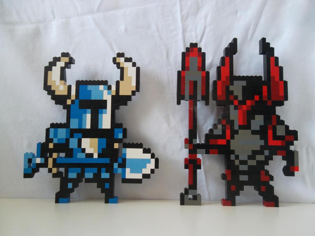 Lego Shovel Knight And Dark Knight By Profmadness On Deviantart