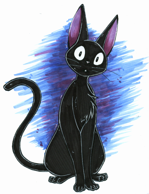 Jiji the cat by Hybrid...