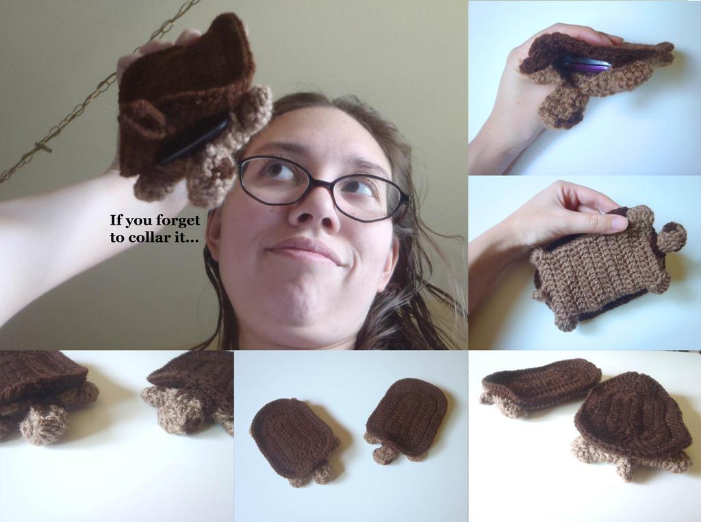 Crochet Turtle Phone Sleeve (For Sale!) by FayardHandMadeCrafts