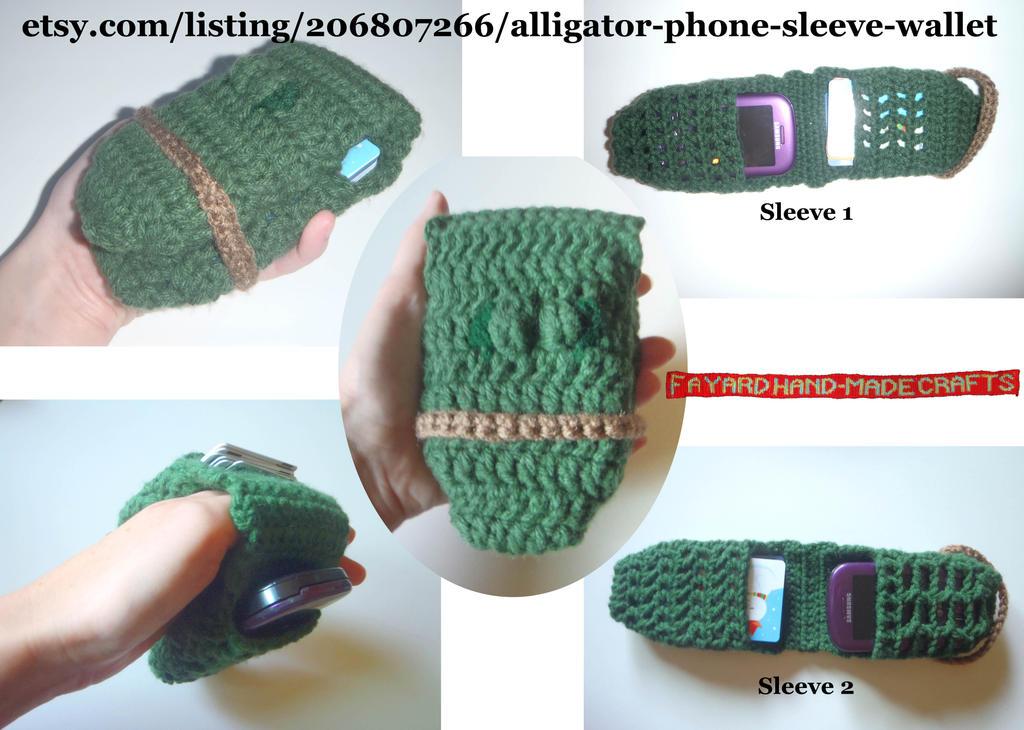 Alligator Phone Wallet (For Sale!) by FayardHandMadeCrafts