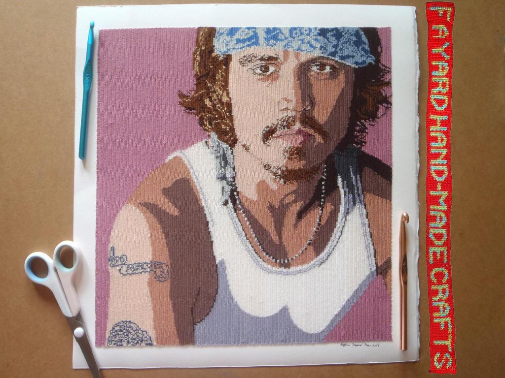 Johnny Depp MiCrochet Poster, Part 10/10 by FayardHandMadeCrafts