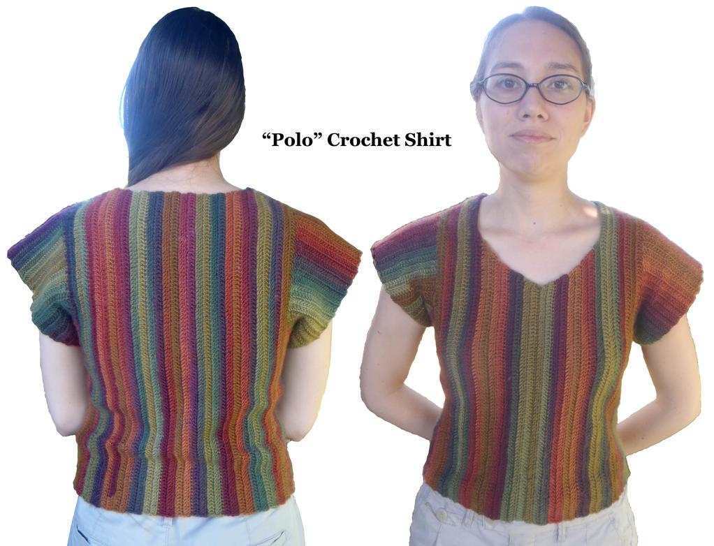 Polo Crochet Shirt by FayardHandMadeCrafts