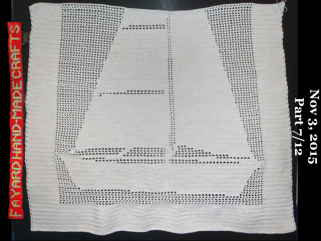 Commission: Filet Crochet Boat Curtain, Part 7/12 by FayardHandMadeCrafts