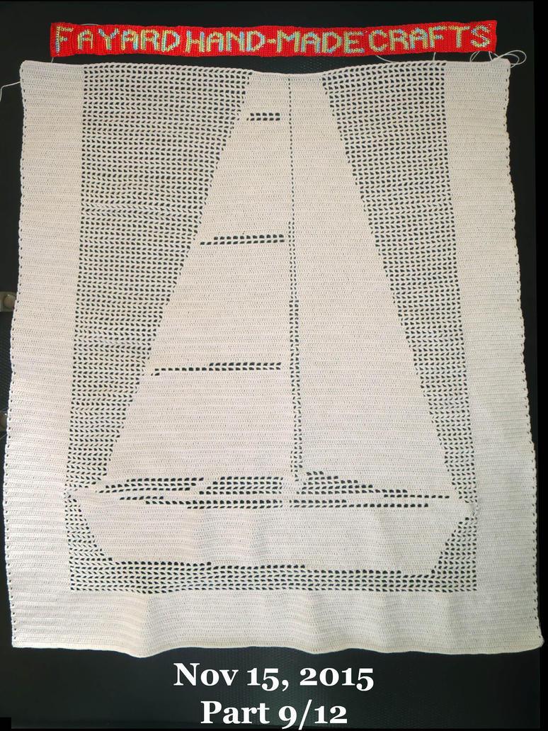 Commission: Filet Crochet Boat Curtain, Part 9/12 by FayardHandMadeCrafts