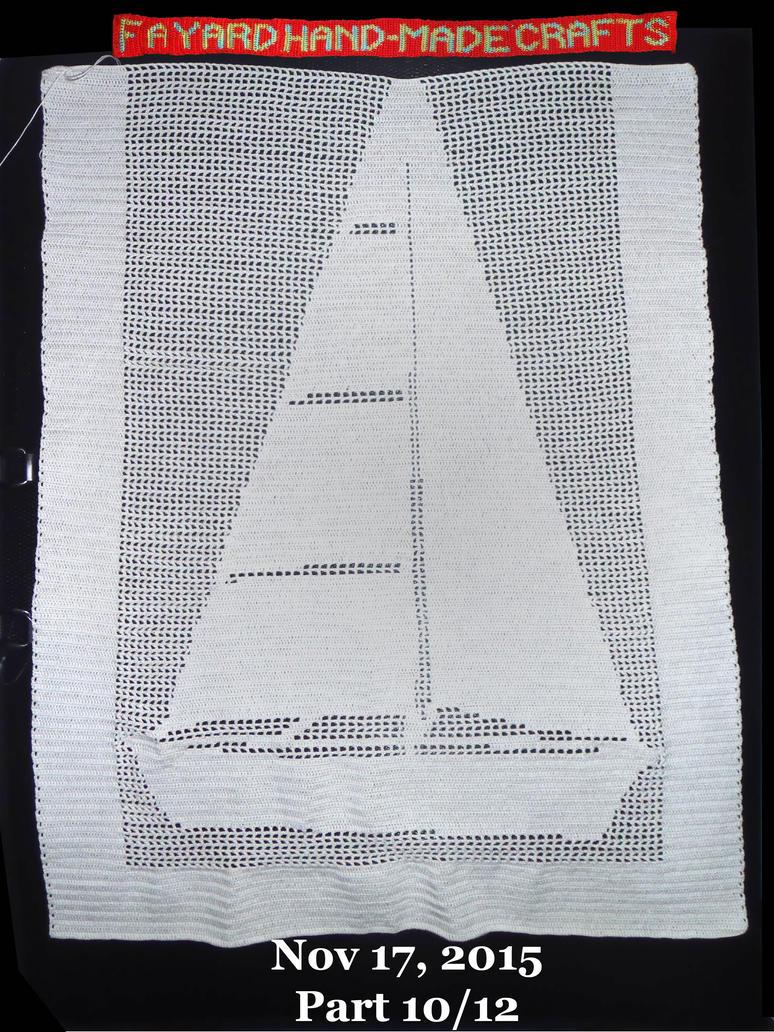 Commission: Filet Crochet Boat Curtain, Part 10/12 by FayardHandMadeCrafts