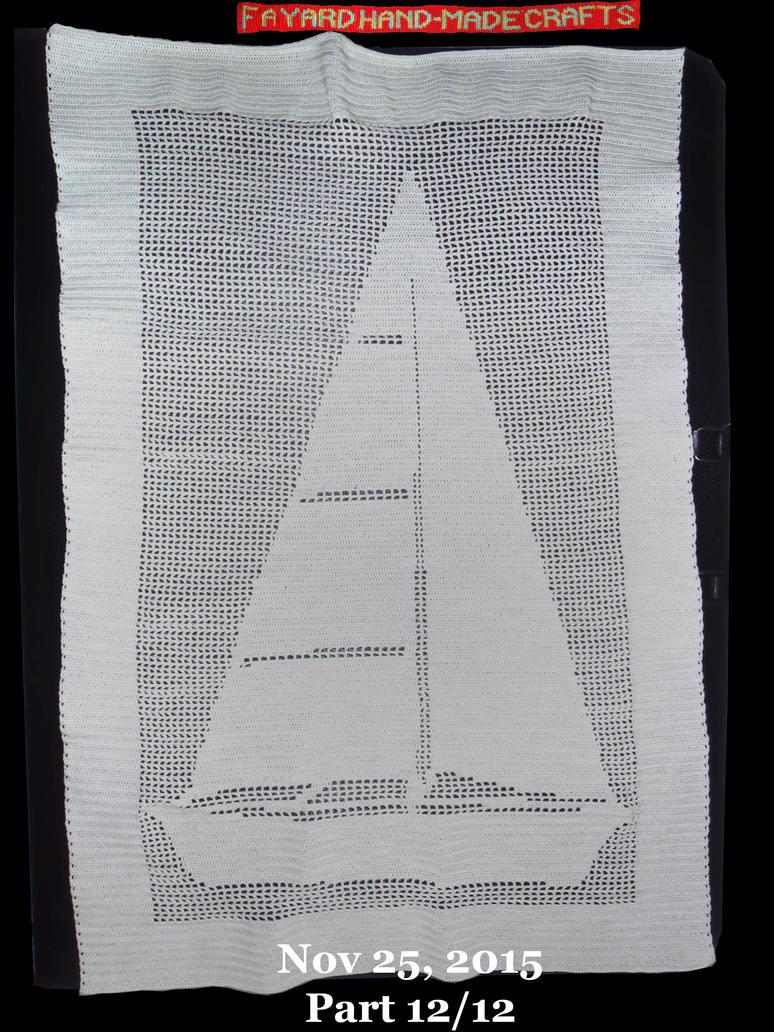 Commission: Filet Crochet Boat Curtain, Part 12/12 by FayardHandMadeCrafts