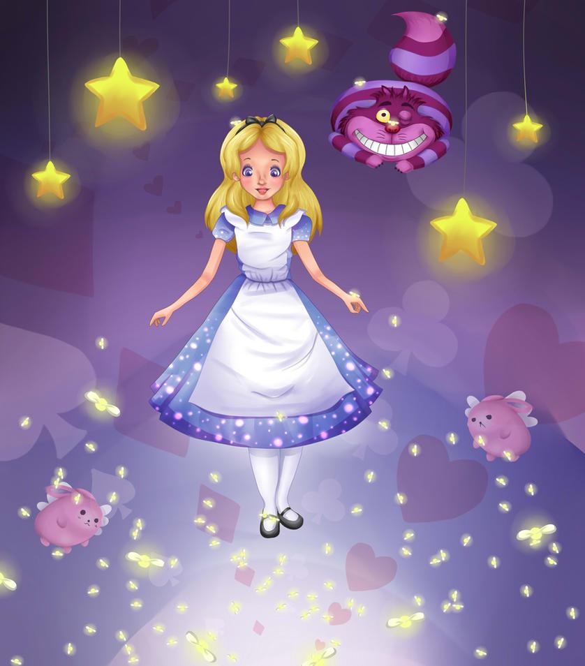 Alice in Wonderland by staudensellerie